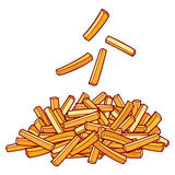 French fries. A pile of french fries royalty free illustration