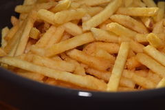 French fries. A pile of appetizing french fries Royalty Free Stock Photography