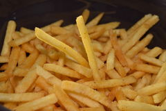 French fries. A pile of appetizing french fries Stock Photography