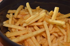 French fries. A pile of appetizing french fries Stock Photo