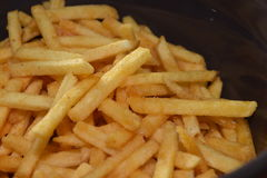 French fries. A pile of appetizing french fries Stock Images