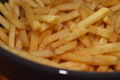 French fries. A pile of appetizing french fries Stock Image
