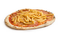 French fries pizza Royalty Free Stock Image