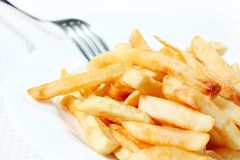 French fries on a plate Stock Photography