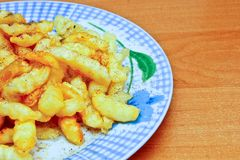 French fries. On a plate Royalty Free Stock Photography