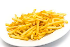 French fries in the plate Royalty Free Stock Photo