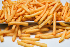 French fries on a plate Royalty Free Stock Photo