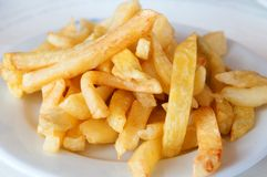 French fries. Portion of homemade french fries Royalty Free Stock Images