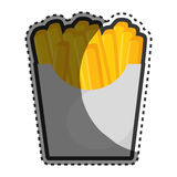 French fries portion icon. Vector illustration design Stock Photos