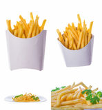 French fries portions Stock Images