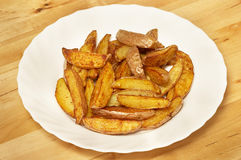 French fries potato slices Stock Image