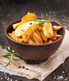 French fries potato wedges royalty free stock photography