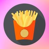 French fries potatoe flat vector Royalty Free Stock Photography