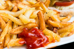 French fries potatoes Stock Photos