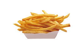 French fries potatoes isolated on white Royalty Free Stock Photo