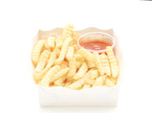 French fries potatoes with ketchup Royalty Free Stock Photography