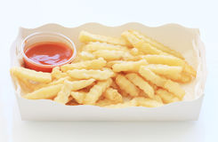 French fries potatoes with ketchup Stock Photography