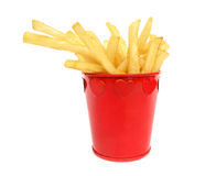 French fries potatoes in red box with hearts Stock Photography