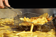 French fries are ready to be served Stock Images