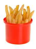 French Fries in red cup on background Royalty Free Stock Photos