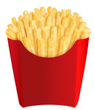 French fries in red packaging Royalty Free Stock Images