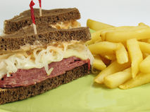 French Fries & Reuben Royalty Free Stock Image