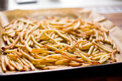 French fries on roaster Royalty Free Stock Images