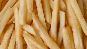 French fries with salt. Close up stock video footage