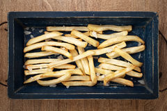 French fries with salt Royalty Free Stock Image