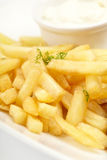 French fries with sauce Stock Images
