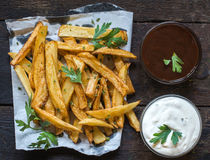French fries and sauces Stock Image