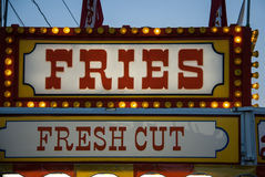 French fries sign Royalty Free Stock Image