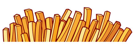 French fries. Sign,  symbol stock illustration