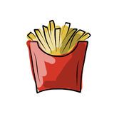 French fries sketch for your design Stock Photos