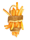 French fries with the skin Stock Images