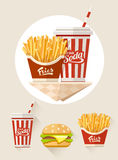 French fries and soda in paper cup Royalty Free Stock Photography
