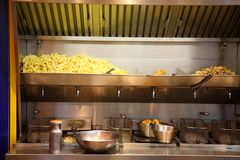French fries stand. Royalty Free Stock Images