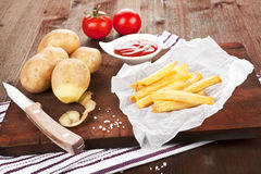 French fries still life. Royalty Free Stock Photos