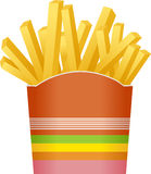 French fries in striped packaging Stock Photo