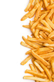 French fries. Top view of french fries on white background Stock Photo