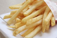 French Fries the ultimate Fast Food Meal. French Fries the ultimate Fast Food Snack of the masses Royalty Free Stock Photo