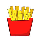 French Fries. Vector illustration of a classic french fries Stock Photos