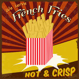 French fries vintage poster Royalty Free Stock Image