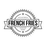 French fries vintage sign Royalty Free Stock Photos