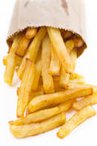 French fries on white Royalty Free Stock Photo