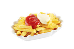 French fries on white Stock Images