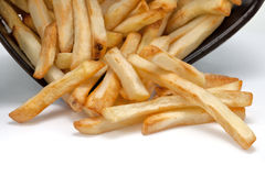 French fries on white background Royalty Free Stock Image