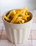 French Fries in white cup Royalty Free Stock Photography