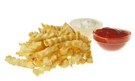 French fries on the white isolated background Royalty Free Stock Photo