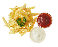 French fries on the white isolated background Royalty Free Stock Photos